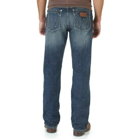 Wrangler Men's Retro Layton Slim Fit Jeans Straight Leg - Wlt77ly - Firefly Denim