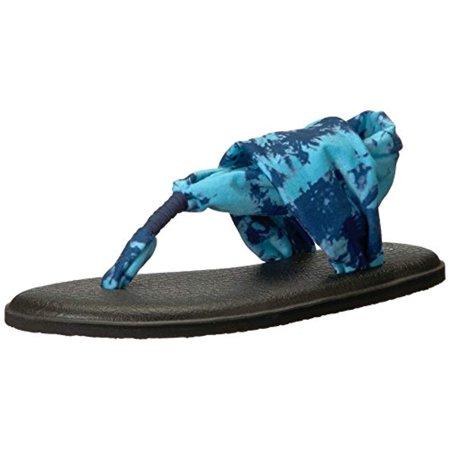 - Sanuk Yoga Sling 2 Prints - Women's Sandals - Navy Tye Dye