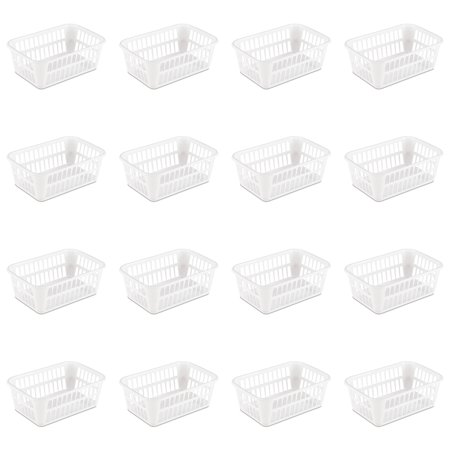 Small Openwork Basket - Sterilite, Storage Basket, White, Case of 16