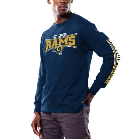 Classic St. Louis Rams Majestic Primary Receiver Long Sleeve T-Shirt - Navy - M ()