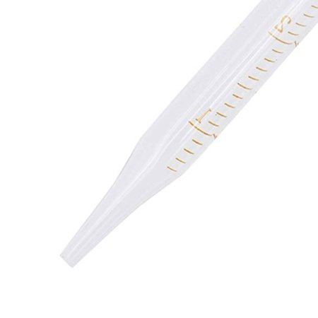 5ml Glass Scale Line Dropper Pipette Lab Dropper Dropping Pipet Blue Rubber Head Pipettors - image 1 de 6