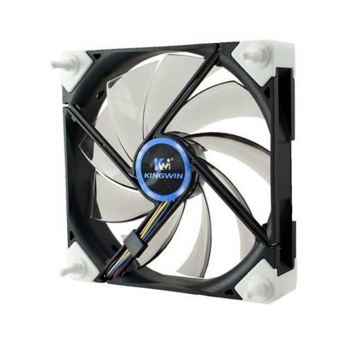 Kingwin DB-125 120MM Screw-less Duro Bearing Silent Series Case Fan with White LED
