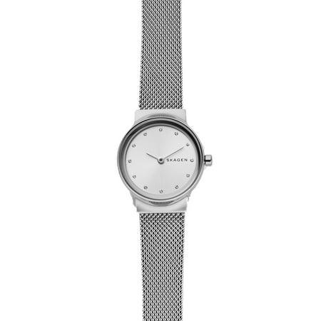 Skagen Freja 2 Hand Womens Wrist Watch w/ Silver Steel Mesh Strap & Silver Face