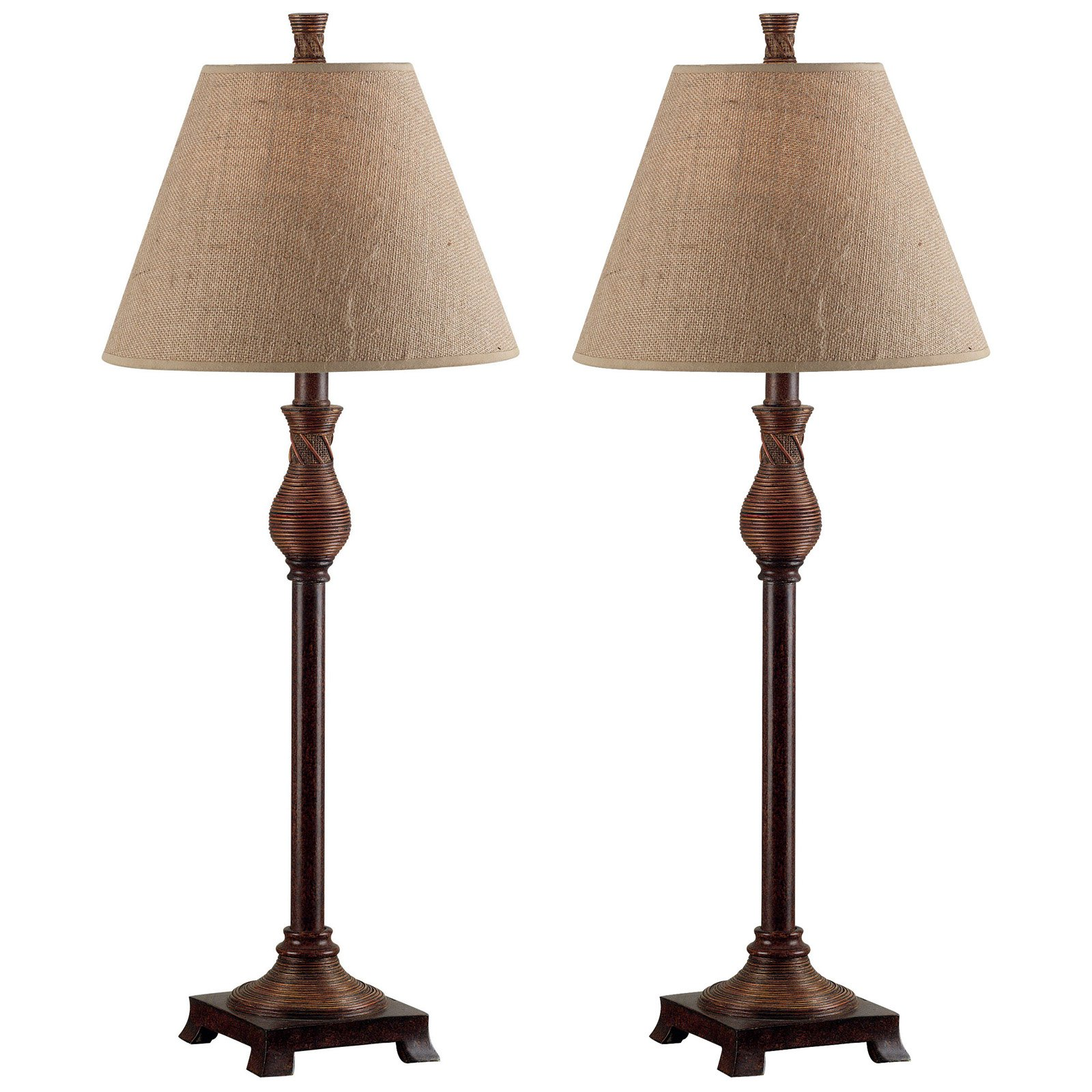 Kenroy Home 20392NR Santiago 2-Pack Buffet Lamp Set