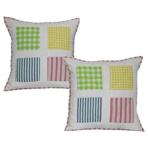 Patch Magic Springworks Cotton Throw Pillow (Set of 2)