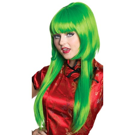Women's Green Anime Wig, One - Short Green Wig