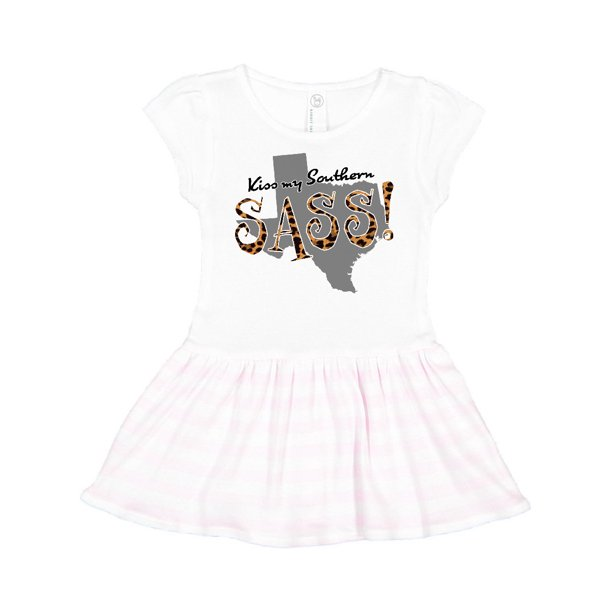 Texas Kiss my Southern Sass! in Leopard Print Toddler Dress