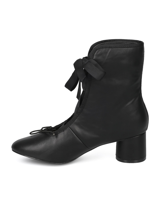 b3b62b3c2f1e Wild Diva - New Women Wild Diva Mira-03 Leatherette Grosgrain Ribbon Block  Heel Ankle Boot - Walmart.com