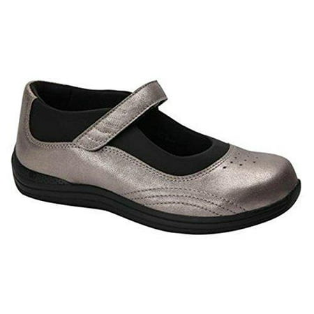 Drew Rose - Women's Mary Jane Velcro Strap Shoe Brown Leather Mary Jane