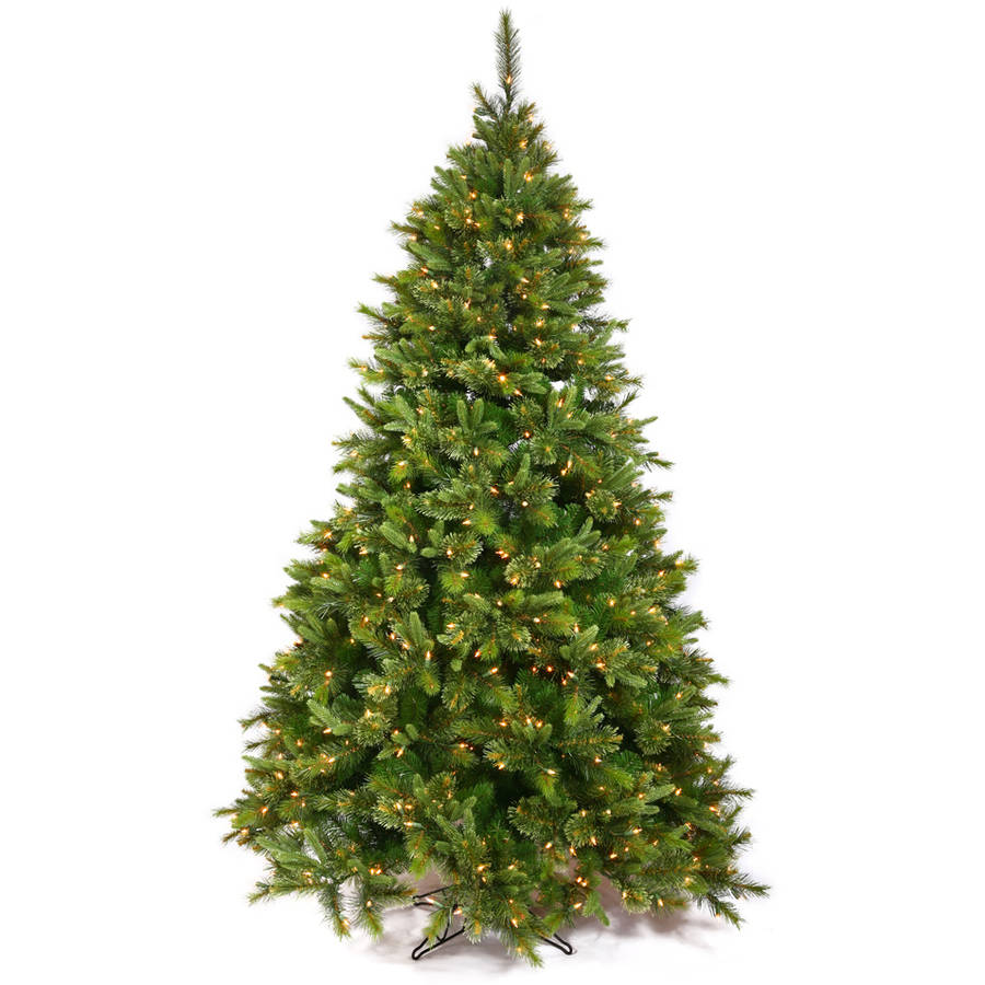 Vickerman Pre-Lit 7.5' Cashmere Pine Artificial Christmas Tree, Dura-Lit, Clear Lights