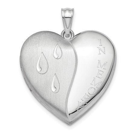 Sterling Silver Rhodium-plated 24mm Memory Ash Holder Heart
