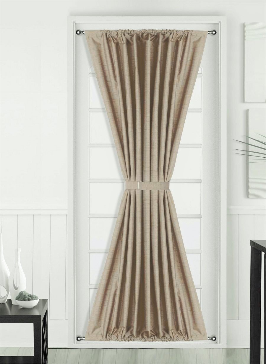 1 Pc TAUPE TAN Insulated Heavy Thick French Door Thermal Blackout Rod Pocket Curtain Panel with