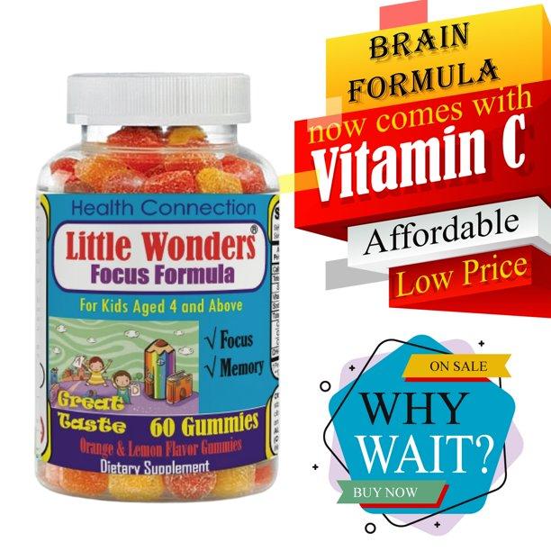 Little Wonders Brain Supplement For Kids Kids Gummy Vitamins