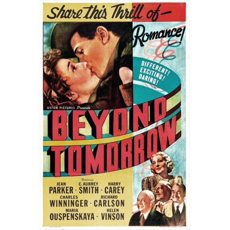 Beyond Tomorrow Us Poster Top From Left Jean Parker Richard Carlson Bottom Right Helen Vinson Charles Winninger C Aubrey Smith Harry Carey 1940 Movie Poster (Ricard Poster)