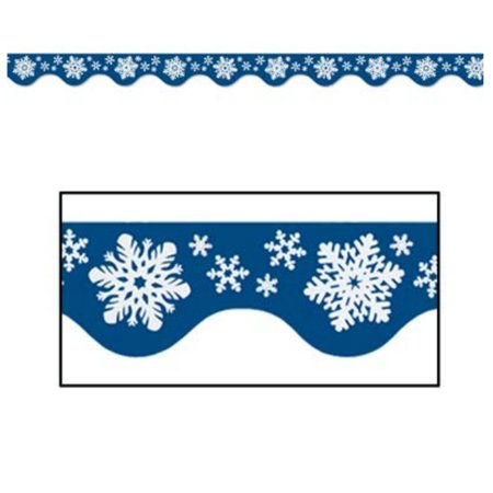 Pack of 144 Colorful Winter Snowflake Bulletin Board Border Trim Signs 3.75' - Christmas Bulletin Boards For Preschool