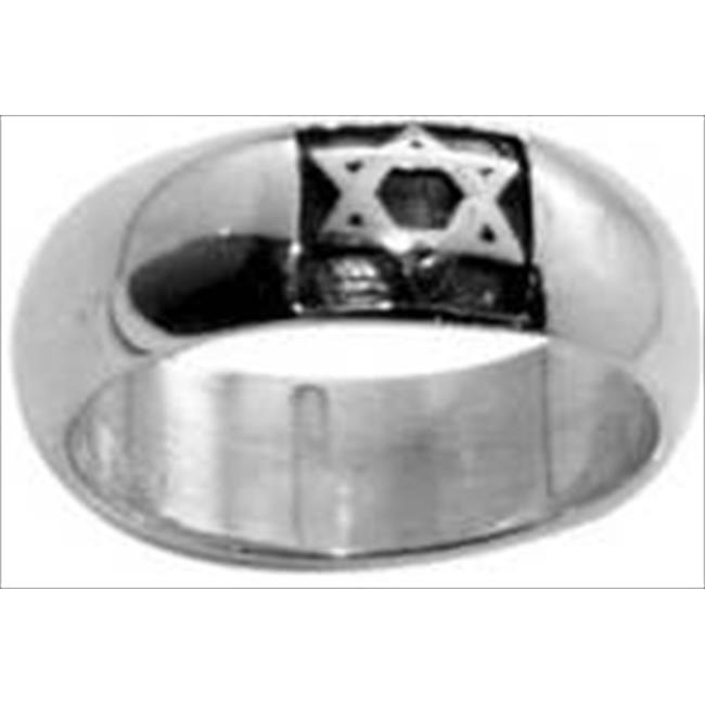Solid Rock Jewelry 760353 Ring Star Of David Style 489 Ss Size 7