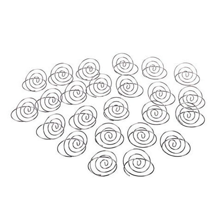 Contemporary Place Card Holders - Victoria Lynn Swirl Table Top Card Holder - Silver - 24 pcs