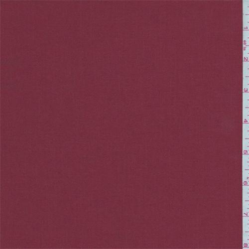 Deep Brick Red Gabardine Shirting, Fabric By the Yard