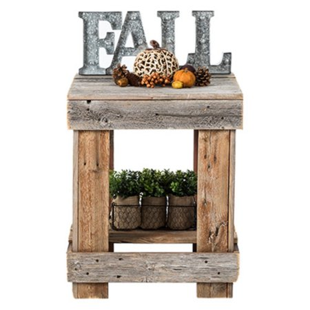 Del Hutson Reclaimed Wood End Table