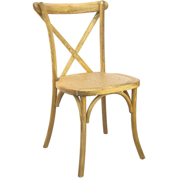 Hand Scraped Natural X-Back Chair