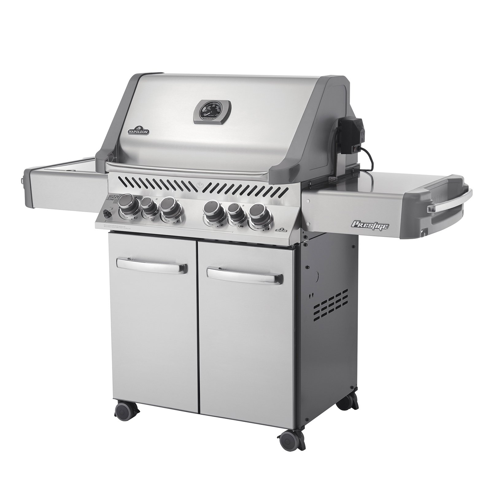 Napoleon Prestige P500RSIB Grill with Rear Side Infrared Burner and Stainless Steel Doors