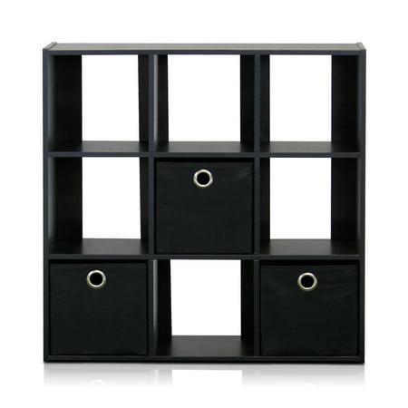 Furinno 13207 Simplistic 9-Cube Organizer with Bins ()