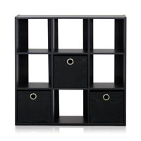 Product Image Furinno 13207 Simplistic 9 Cube Organizer With Bins