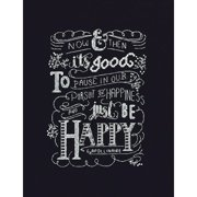 """Just Be Happy Counted Cross Stitch Kit, 8"""" x 10"""", 14-Count"""