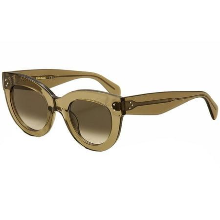 c8c0c5983e Celine - Celine Women s CL 41050S 41050 S 0ZO Z3 Mud Cat Eye Fashion  Sunglasses 49mm - Walmart.com