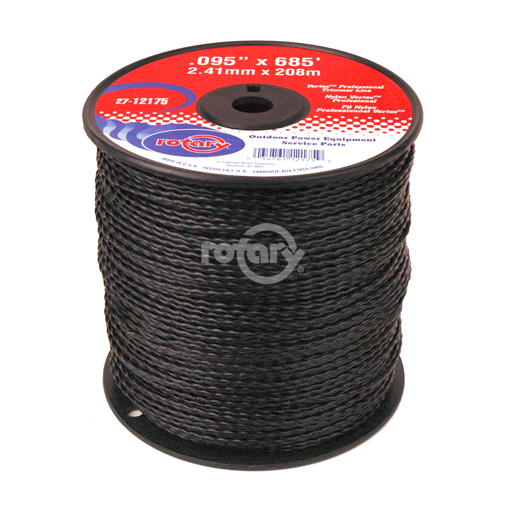 Trimmer Line .095 Md Spool Black Vortex Line