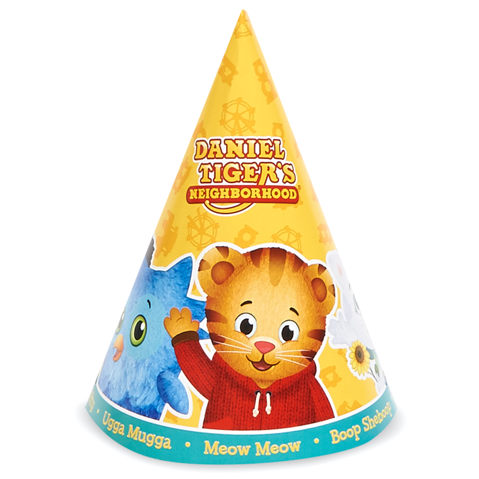 Daniel Tiger'S Neighborhood Party Supplies 16 Pack Cone Party Hats