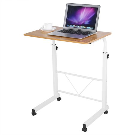 Yosoo height adjustable laptop computer table standing desk movable yosoo height adjustable laptop computer table standing desk movable sofa bedside rolling cart trayyellow watchthetrailerfo