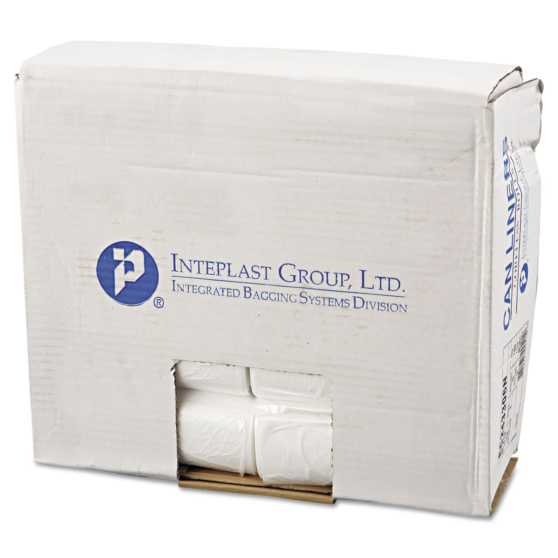 Inteplast Group Perforated Roll Commercial 16 Gallon Natural Can Liners, 1000 count