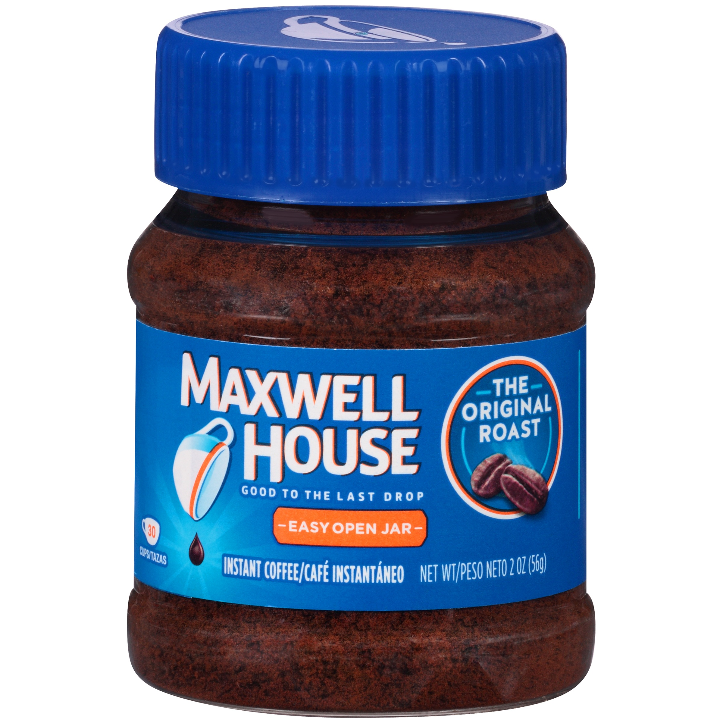 (2 Pack) Maxwell House Original Roast Instant Coffee 2 oz. Jar