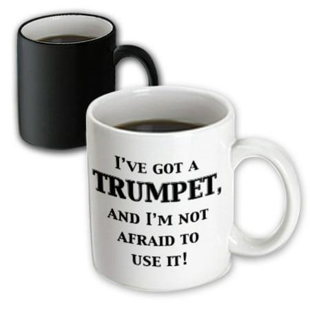3dRose I?ve got a trumpet and I?m not afraid to use it, Magic Transforming Mug, 11oz