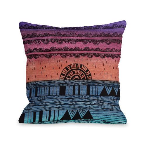 Sunshine Through the Rain Multi - 18x18 Pillow by Susan Claire