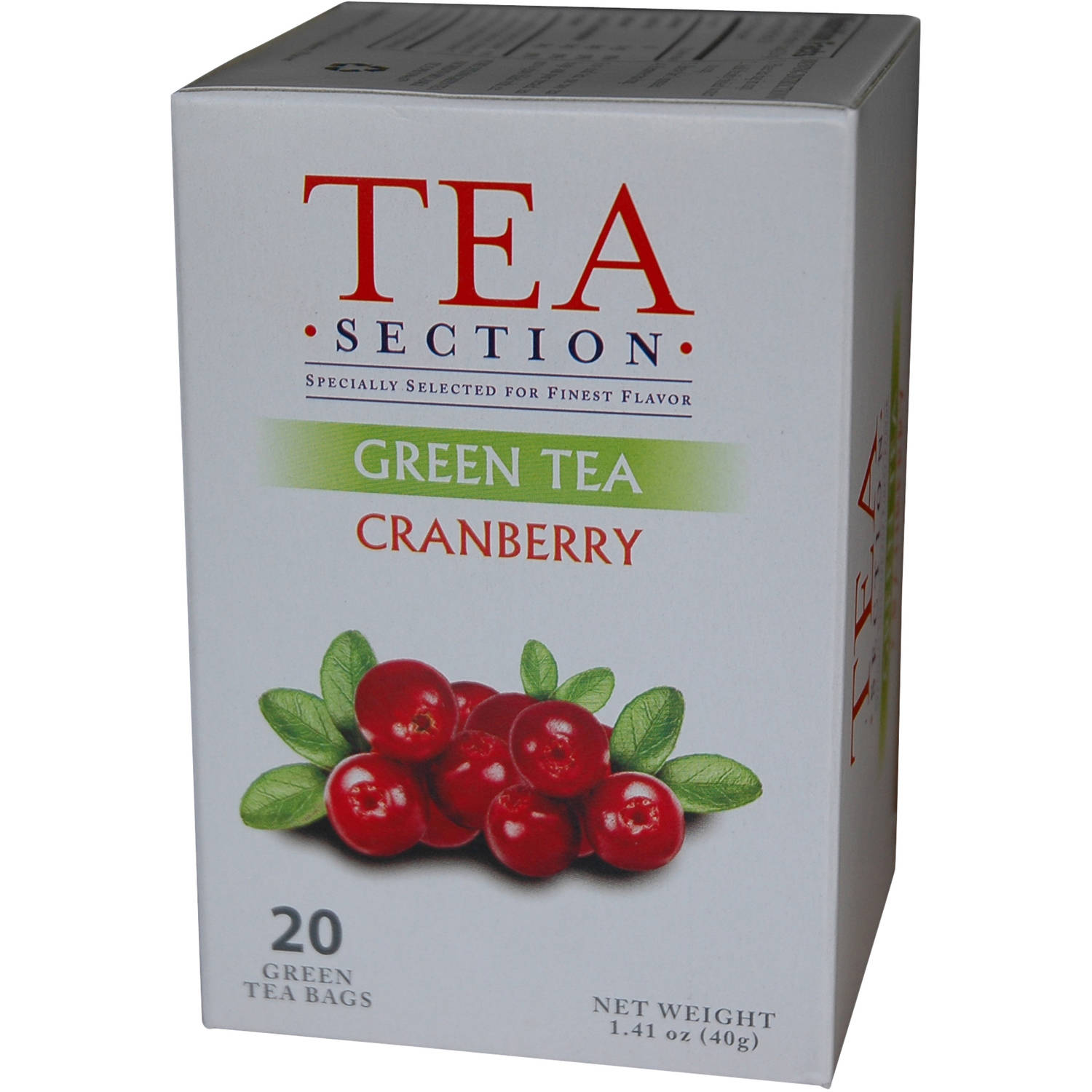 Tea Section Cranberry Green Tea Bags, 20 count, 1.41 oz