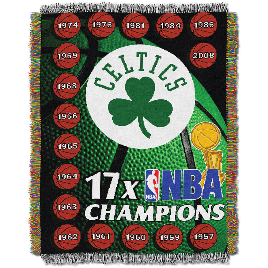 "NBA 48"" x 60"" Commemorative Series Tapestry Throw, Celtics"