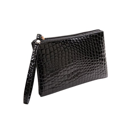 Lavaport Ladies Pu Leather Envelope Zip Up Evening Bags Womens Purse Shoulder Handbags Chocolate Leather Zip Hobo Bag