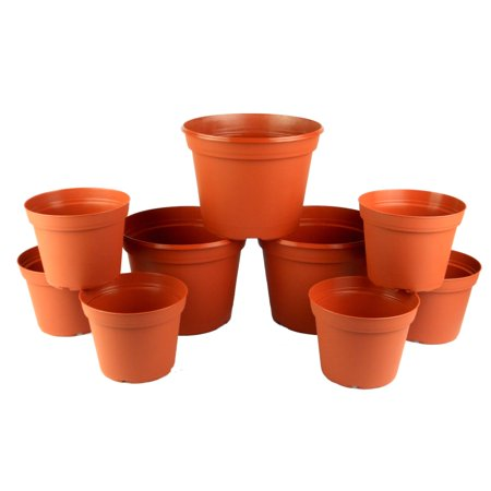 Acadia Collection - Arcadia Collection 6 and 8 Inch Poly Planter Set