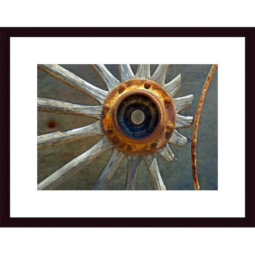 Printfinders Wagon Wheel Abstract by John K. Nakata Framed Photographic Print
