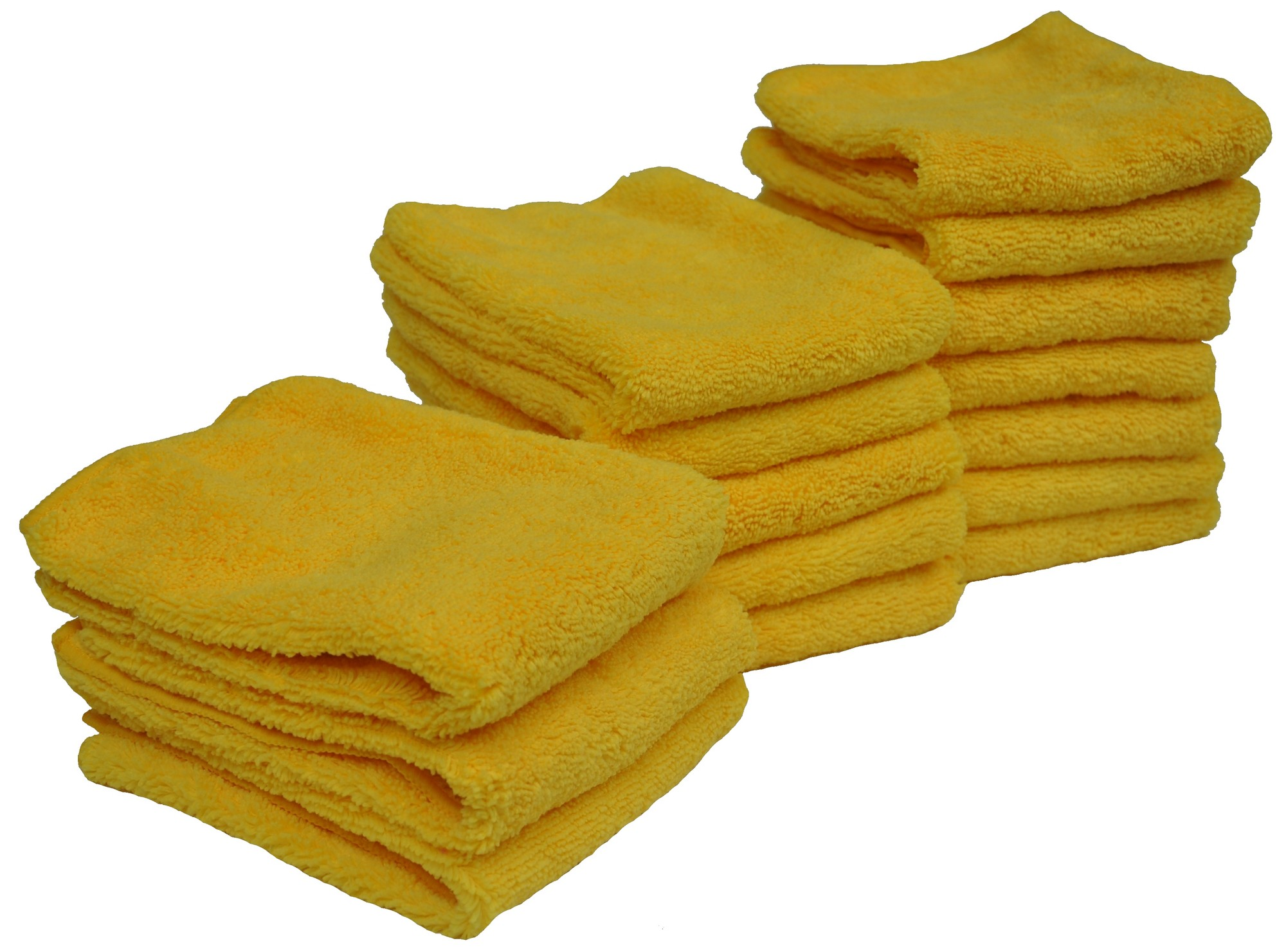 Eurow Microfiber Ultrasonic Cut Cleaning Towels 14 x 14in 300 GSM Blue 12-Pack