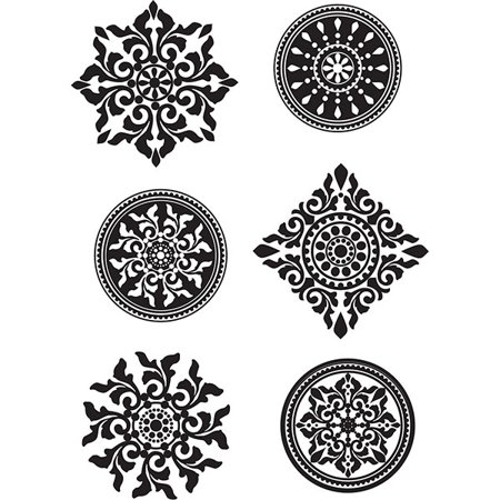 Decal Medallion - InHome Riya Medallions Wall Stickers