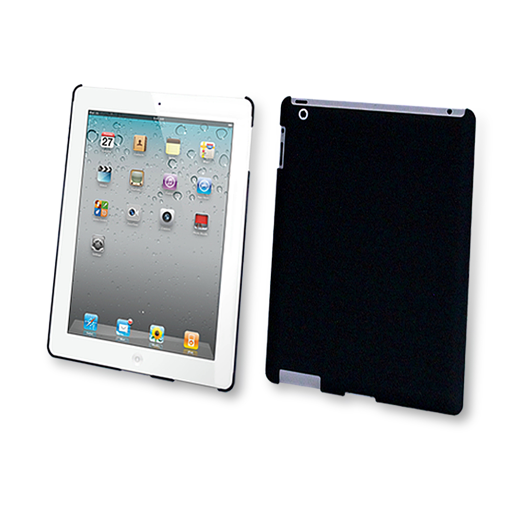 Rubberized Case for iPad 2 / iPad 3 (3rd Generation) / iPad with Retina Display (iPad 4, 4th Generation) - Black