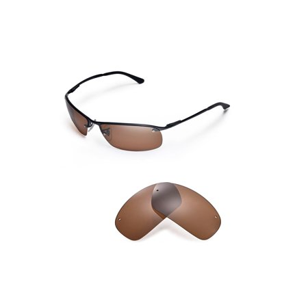 18d07ffc72 Walleva - Walleva Brown Polarized Replacement Lenses for Ray-Ban RB3183  63mm Sunglasses - Walmart.com