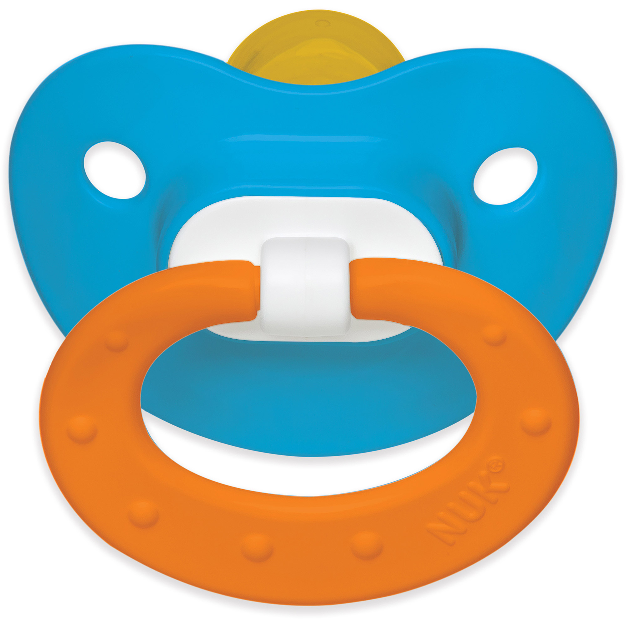 NUK Juicy Latex Orthodontic Pacifiers, 2ct, 18-36 months, BPA-Free (Colors May Vary)