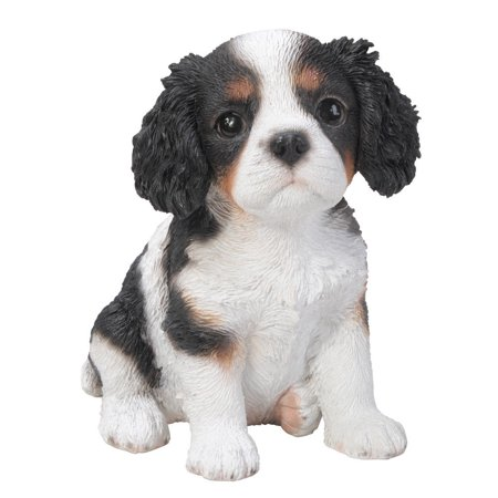 - 6.5 inches King Charles Spaniel Puppy Figurine Statues Collectible