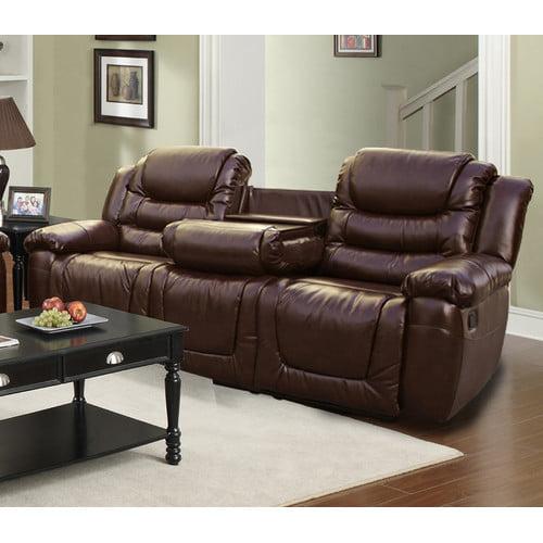 Beverly Fine Furniture Ottawa Leather Reclining Sofa Walmart
