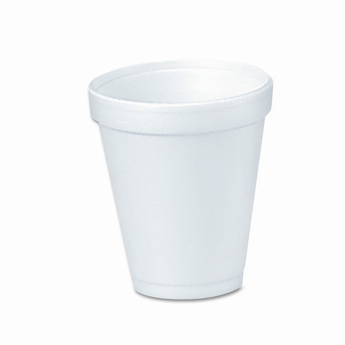 Dart Container Corp. Drink Foam Cups, 4 Ounces, 40 Bags of 25 Per Carton