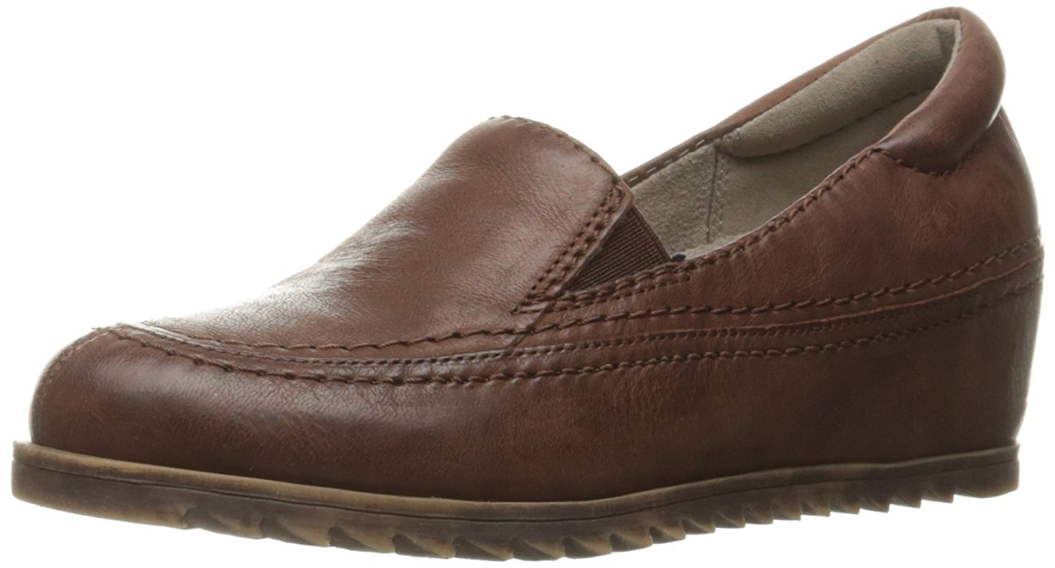 Naturalizer Womens Harker Leather Round Toe Loafers, Brown, Size 7.0 by Naturalizer